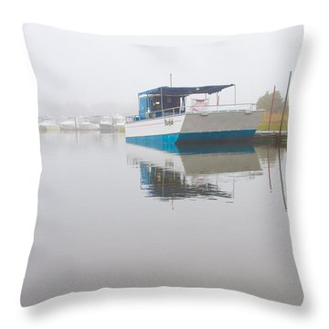 Tranquil Harbor Throw Pillow by Karol Livote