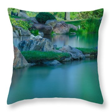 Tranquil Island Throw Pillow by Jonah  Anderson