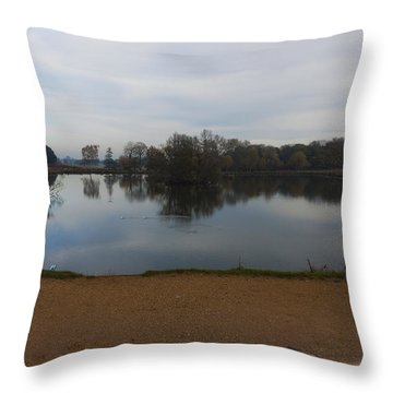 Throw Pillow featuring the photograph Tranquil by Maj Seda