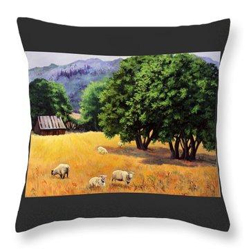 Tranquil Pastures Throw Pillow