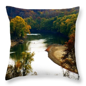 Throw Pillow featuring the photograph Tranquil View by Peggy Franz