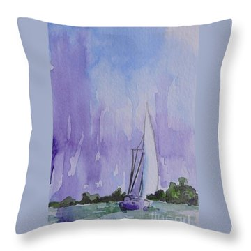 Tranquility Throw Pillow by Gretchen Bjornson