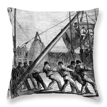 Trans-atlantic Cable, 1869 Throw Pillow by Granger