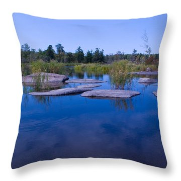 Trans Canada Trail Scenery Throw Pillow