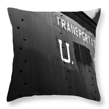 Transportation Corps Car Throw Pillow
