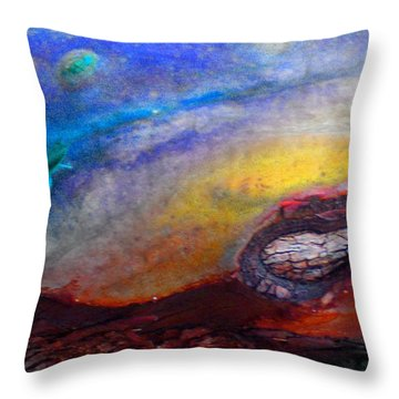 Throw Pillow featuring the digital art Travel by Richard Laeton