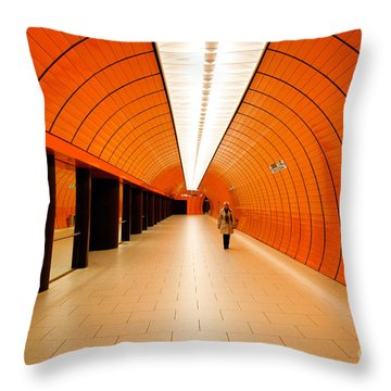 Traveler Throw Pillow by Syed Aqueel