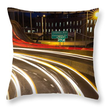 Traveling In Time Throw Pillow