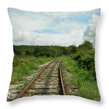 Traveling Towards One's Dream Throw Pillow
