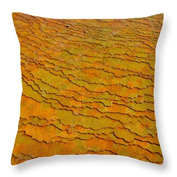 Travertine Jigsaw Throw Pillow