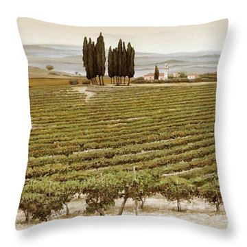 Tree Circle - Tuscany  Throw Pillow by Trevor Neal