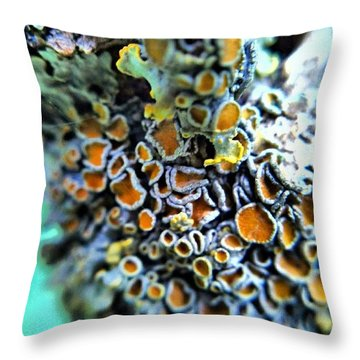 Tree Lichen Throw Pillow