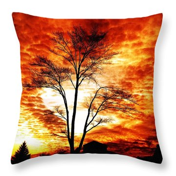 Tree Light Throw Pillow