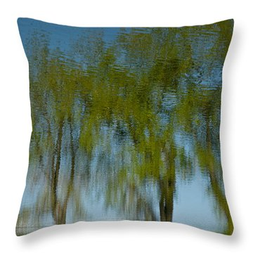 Tree Line Reflections Throw Pillow
