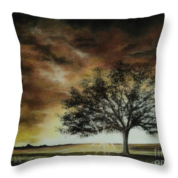 Tree Of Life Throw Pillow by Carla Carson