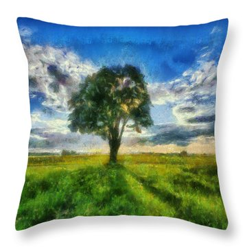 Throw Pillow featuring the painting Tree Of Life by Joe Misrasi