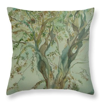 Tree Of Life Throw Pillow by Robin Miller-Bookhout