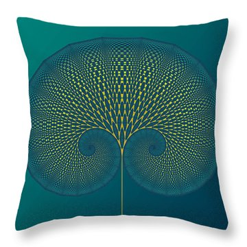 Tree Of Well-being Throw Pillow by Mark Greenberg
