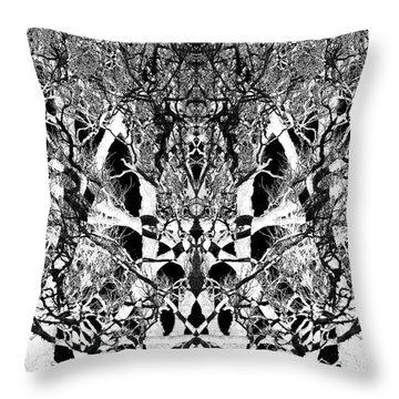 Throw Pillow featuring the digital art Tree Patterns by Michele Cornelius