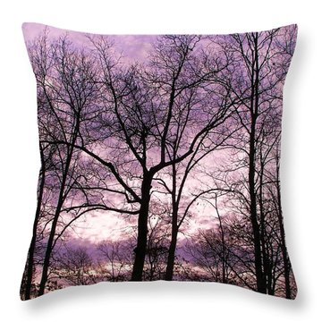 Throw Pillow featuring the photograph Trees In Glorious Calm by Pamela Hyde Wilson