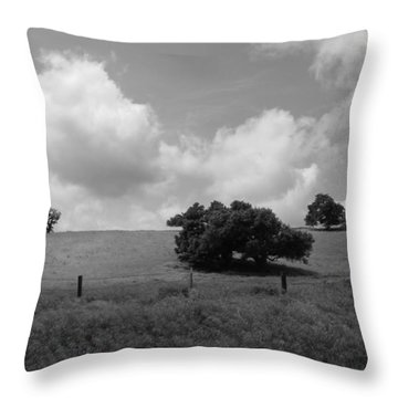 Throw Pillow featuring the photograph Trees On The Hillrise by Kathleen Grace