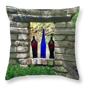 Throw Pillow featuring the photograph Tres Amigoes by Jo Sheehan