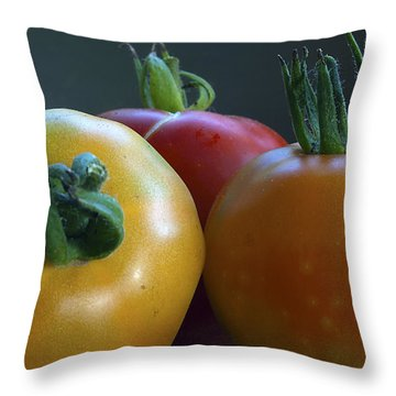 Throw Pillow featuring the photograph Tres Amigos by Joe Schofield