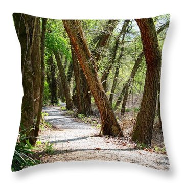 Throw Pillow featuring the photograph Trestle Walk by Kathryn Meyer