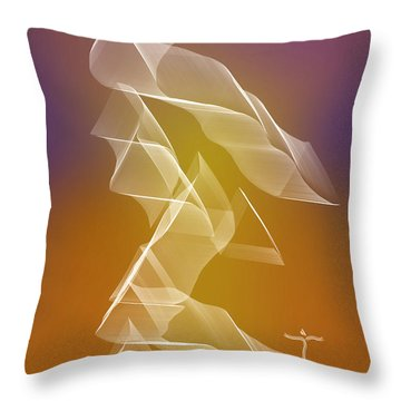 Throw Pillow featuring the digital art . by James Lanigan Thompson MFA
