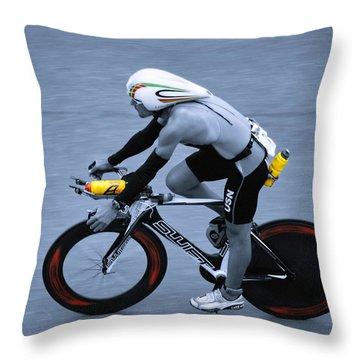Triathlon Man Throw Pillow
