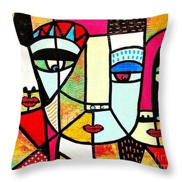 Tribal Batik Mask Spiritual Throw Pillow