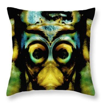 Tribal Mask Throw Pillow by Skip Nall