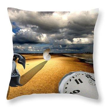 Tribute To Dali Throw Pillow