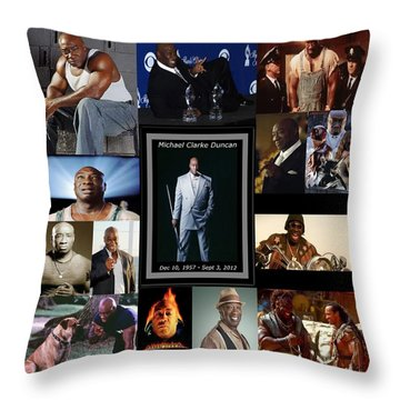 Tribute To Michael C. Duncan Throw Pillow by Davandra Cribbie