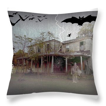 Trick Or Run Like Hell Throw Pillow by Brian Wallace