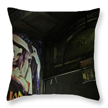 Trillian - Manga Store In Budapest Throw Pillow