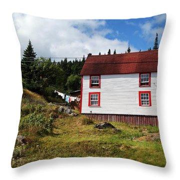 Trinity Road Laundry Throw Pillow by Leanna Lomanski
