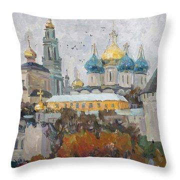 Trinity-st. Sergius Lavra Throw Pillow