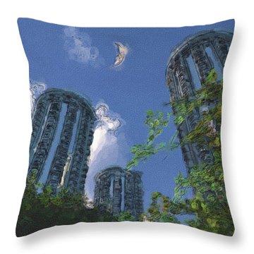Triton Towers Throw Pillow by Richard Rizzo