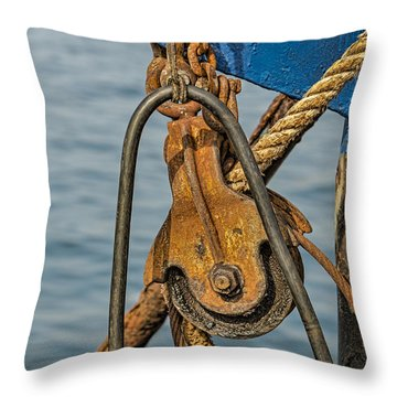 Troller Details Throw Pillow by Susan Candelario