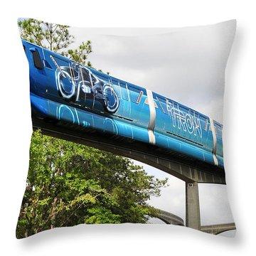 Tron A Rail Throw Pillow by David Lee Thompson