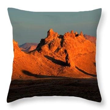 Trona Pinnacles Panorama Throw Pillow by Bob Christopher