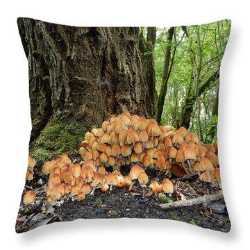 Trooping Crumblecaps Throw Pillow