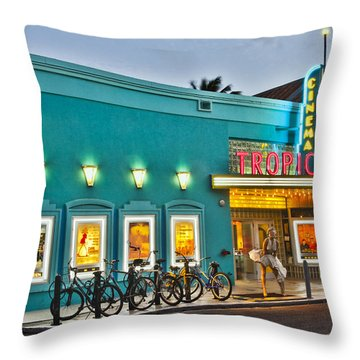 Tropic Cinema Throw Pillow