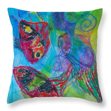 Tropical Ballet II Throw Pillow by Claudia Smaletz