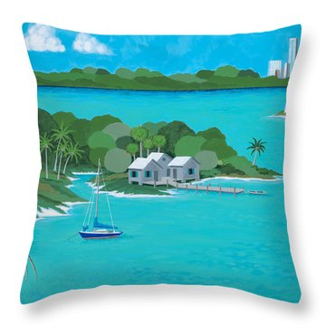 Tropical Idyll Throw Pillow