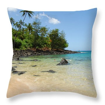 Throw Pillow featuring the photograph Tropical Paradise by Lynn Bauer