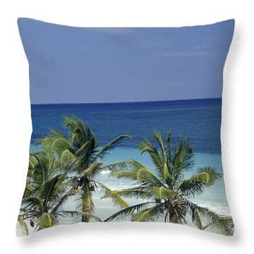 Throw Pillow featuring the photograph Tropical Paradise Sian Kaan Mexico by John  Mitchell