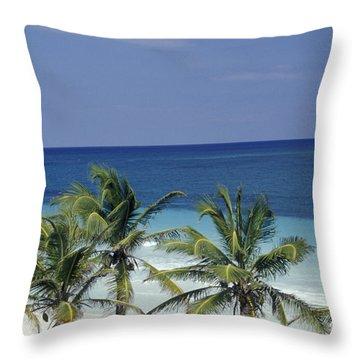 Tropical Paradise Sian Kaan Mexico Throw Pillow