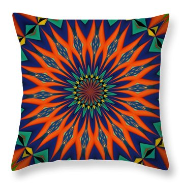 Throw Pillow featuring the digital art Tropical Punch by Alec Drake